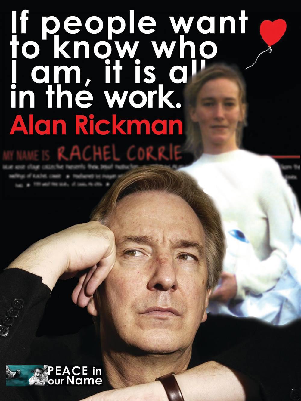 Alan Rickman Rachel Corrie