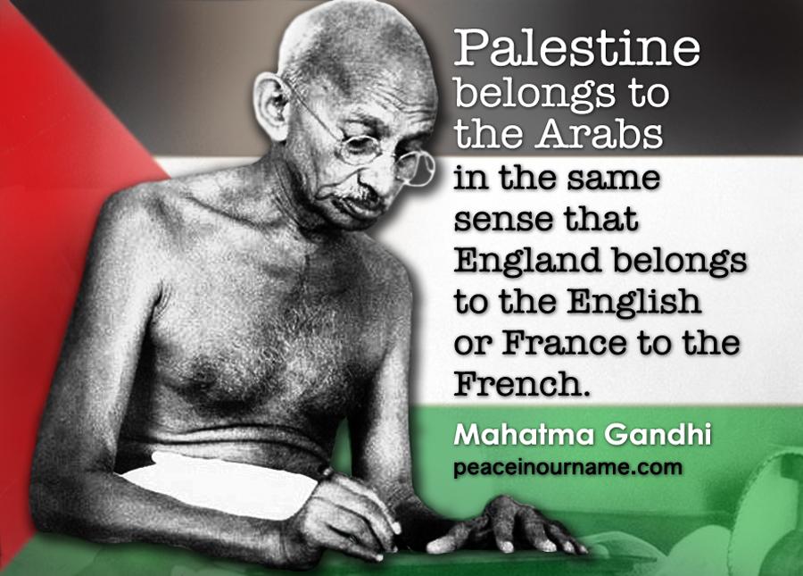 Gandhi supports Palestine
