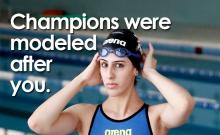 Palestinian olympic swimmer