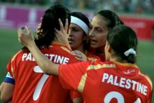 Palestinian football players