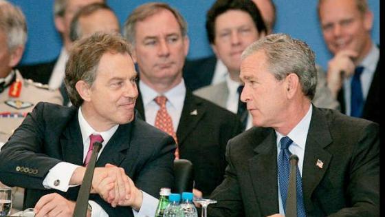 Bush and Blair war criminals