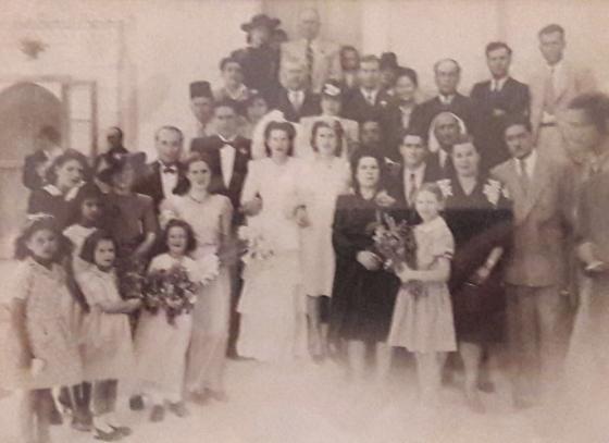 Palestinian family wedding.