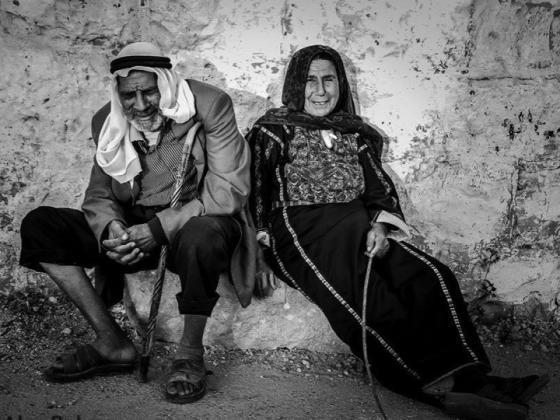 Elderly people in Gaza