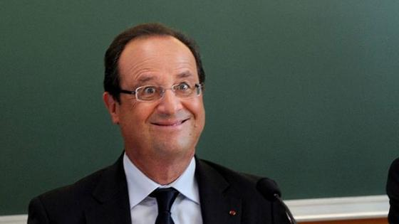 hollande idiot face