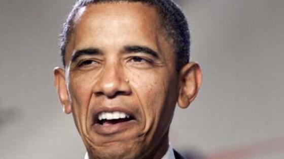 Obama gurning