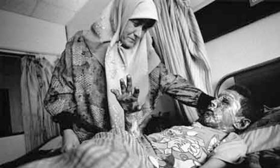 Injured Child and mother
