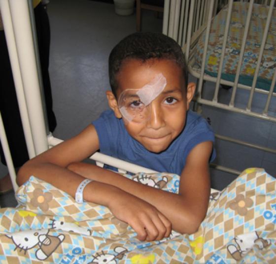 Boy at St John's hospital