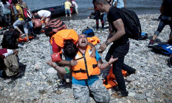 syrian refugees arrive to nothing